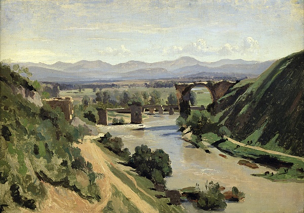 Narni Painting - The Bridge Of Augustus Over The Nera by Jean Baptiste Camille Corot