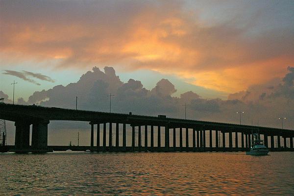 Galveston Photograph - The Bridge To Galveston by Robert Anschutz