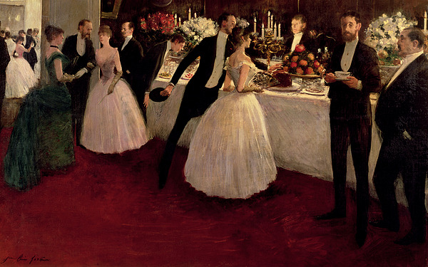 The Buffet Painting - The Buffet by Jean Louis Forain