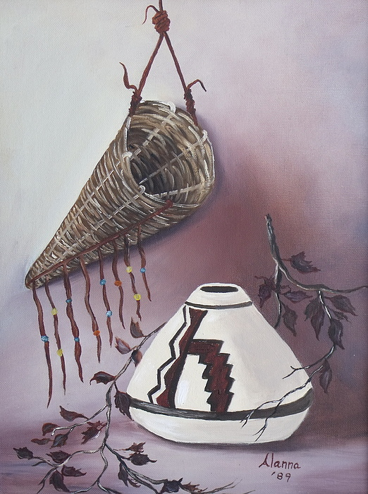 Native American Painting - The Burden Basket by Alanna Hug-McAnnally