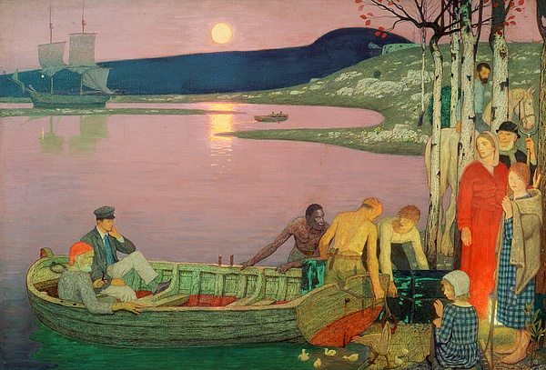 The Painting - The Call Of The Sea by Frederick Cayley Robinson