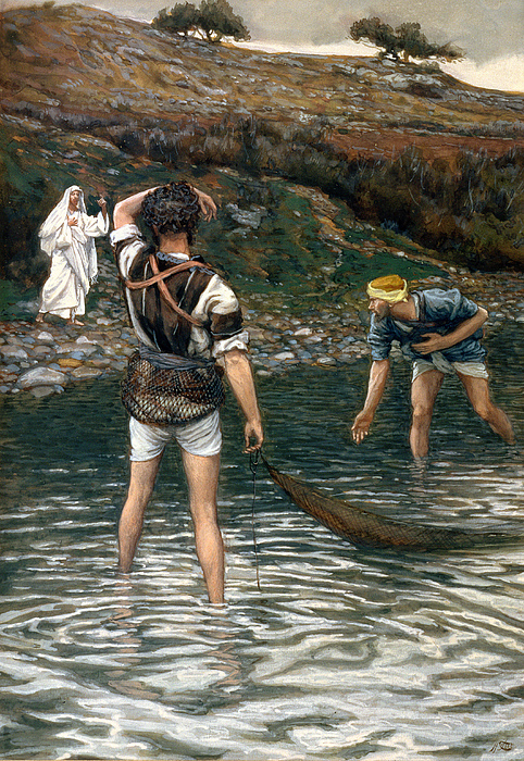 Jesus Painting - The Calling Of Saint Peter And Saint Andrew by Tissot