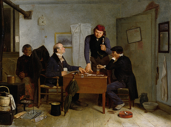 The Painting - The Card Players by  Richard Caton Woodville