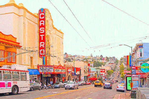 Cityscape Photograph - The Castro In San Francisco by Wingsdomain Art and Photography