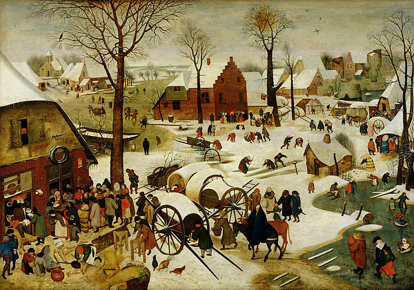 The Painting - The Census At Bethlehem by Pieter the Younger Brueghel