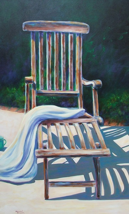 Deck Painting - The Chair by Shannon Grissom