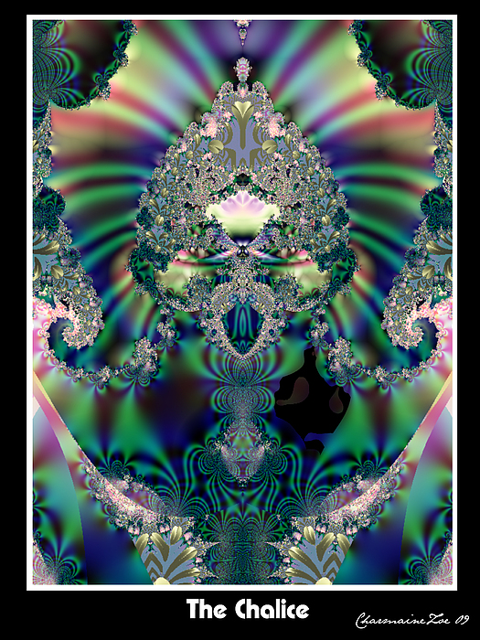 Fractals Digital Art - The Chalice by Charmaine Zoe