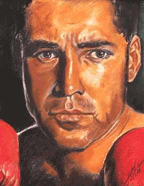 Boxer Painting - The Champ - Oscar De La Hoya by Kenneth Kelsoe