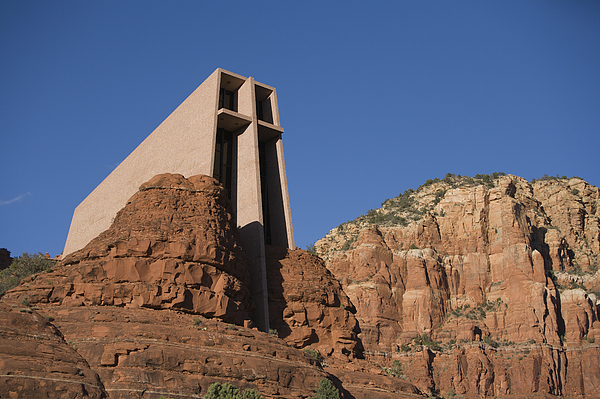 Outdoors Photograph - The Chapel Of The Holy Cross Church by John Burcham