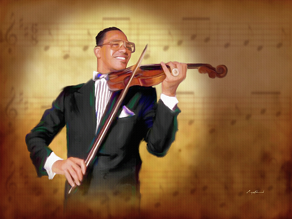 Music Notes Painting - The Chief Musician by Carey Muhammad