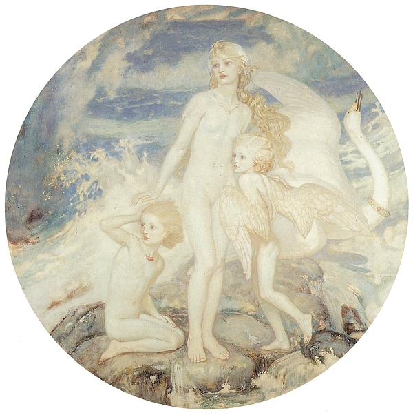 John Duncan Painting - The Children Of Lir by John Duncan
