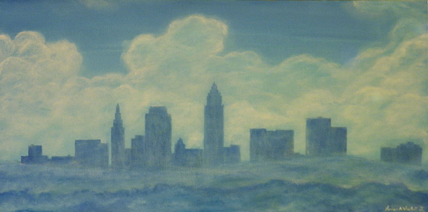 Cleveland Painting - The Cleveland Blues by James Violett II