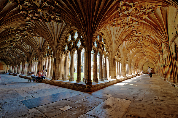 The Cloisters Canterbury Cathedral Photograph by Donald Davis
