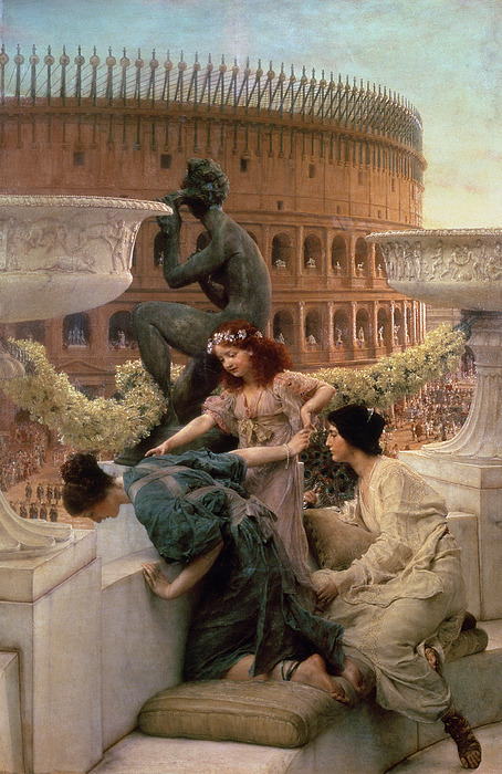 The Painting - The Coliseum by Sir Lawrence Alma-Tadema