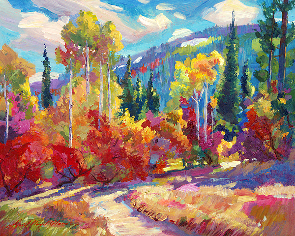 Plein Air Painting - The Colors Of New Hampshire by David Lloyd Glover