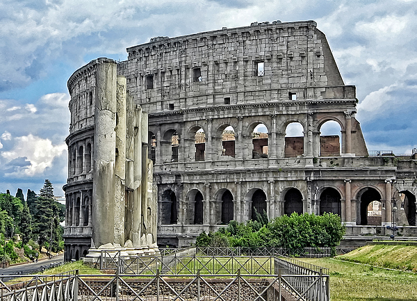 Colloseum Photograph - The Colosseum by Nigel Fletcher-Jones