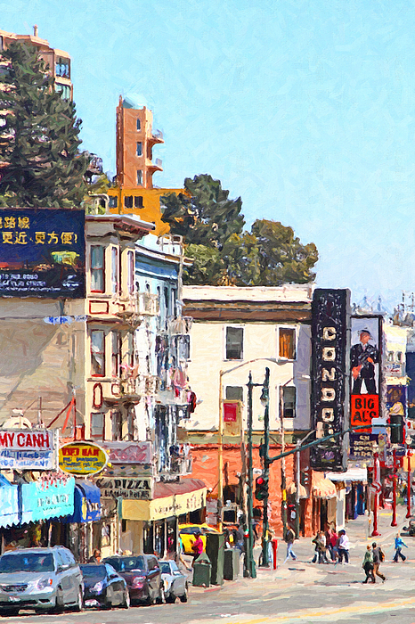 San Francisco Photograph - The Condor On Broadway And Columbus Street In San Francisco by Wingsdomain Art and Photography
