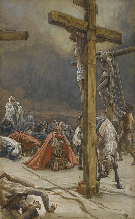Tissot Painting - The Confession Of Saint Longinus by Tissot