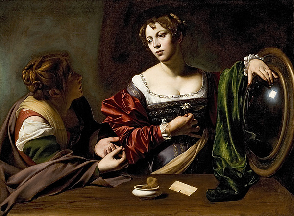 The Painting - The Conversion Of The Magdalene by Michelangelo Merisi da Caravaggio