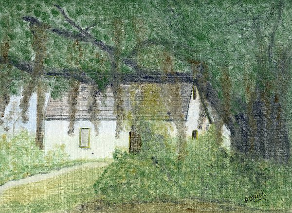 Land Scape Pastel - The Cottage-st. Simons Is. Ga by Diane Frick