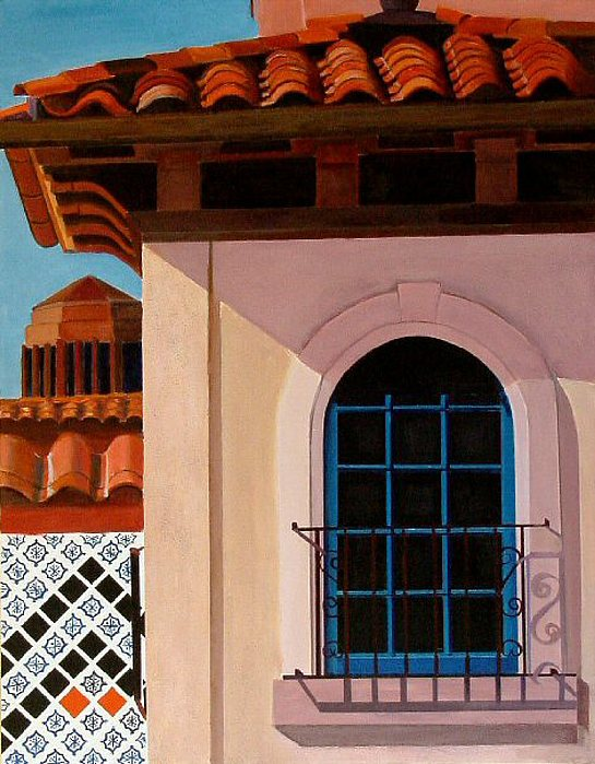 City Scape Painting - The Country Club Plaza - Kansas City by JoeRay Kelley
