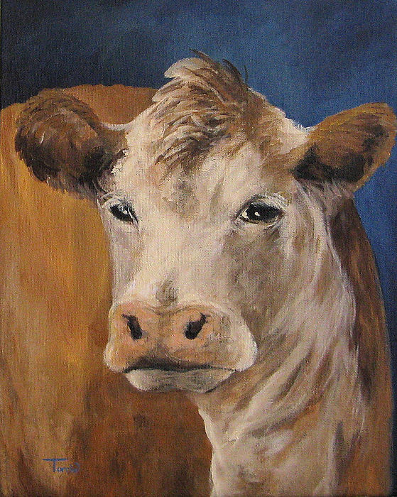 Cow Painting - The Cow by Torrie Smiley