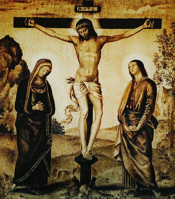Dino Muradian Pyrography - The Crucifixion by Dino Muradian