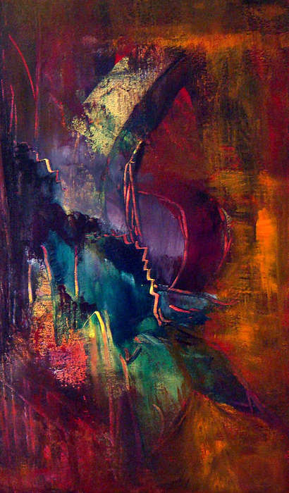 Abstract Painting - The Curve by Davina Nicholas