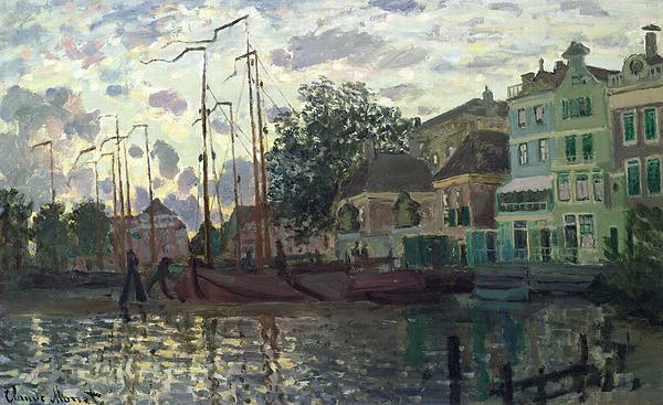 Dam Painting - The Dam At Zaandam by Claude Monet