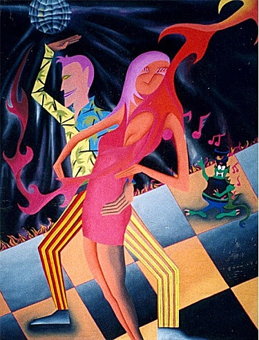 The Dance Painting by Kenneth  Pappa