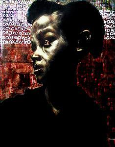 Portrait Mixed Media - The Day We First Met by Chester Elmore