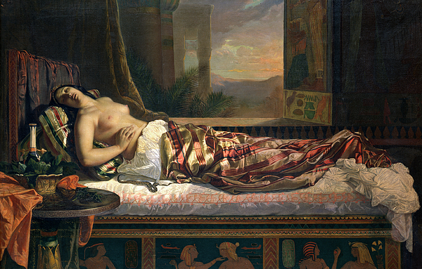 The Death Of Cleopatra Painting - The Death Of Cleopatra by German von Bohn