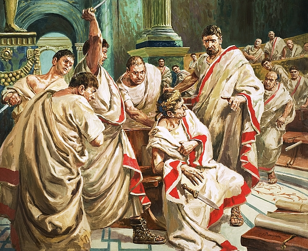 Betray Painting - The Death Of Julius Caesar  by C L Doughty
