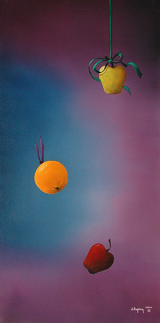 The Difference Between Apples And Oranges Painting by Visionary Imagist