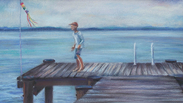 Chesapeake Bay Pastel - The Dock by Laura McMillan