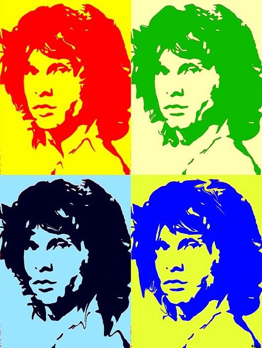 Jim Morrison Painting - The Doors And Jimmy by Robert Margetts