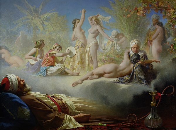 The Painting - The Dream Of The Believer by Achille Zo