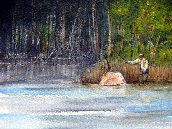 River Painting - The Drift by Ronald Tseng