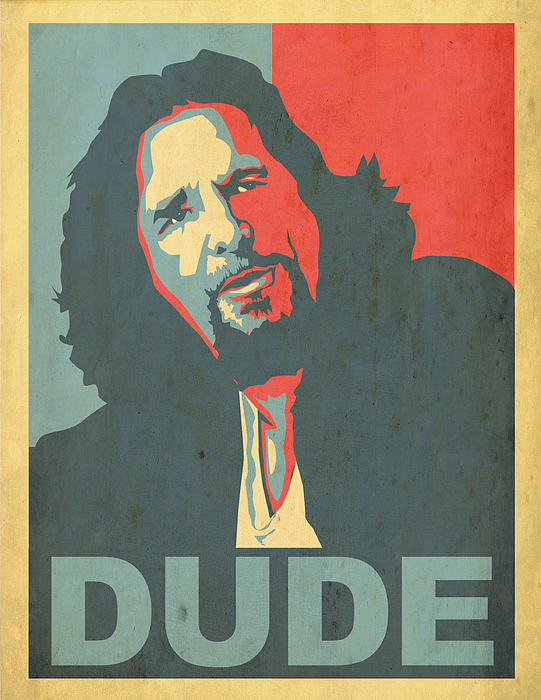 The Big Lebowski Poster Digital Art - The Dude Obama Poster by Christian Broadbent