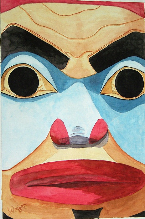 Tlingit Indians Painting - The Elder by Larry Wright