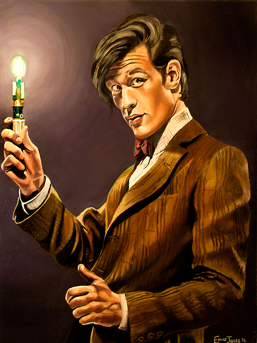 Doctor Who Painting - The Eleventh Doctor by Emily Jones