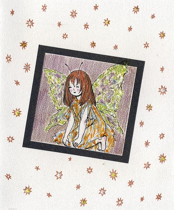 Girl Drawing - The Elf by Kseniya Nelasova