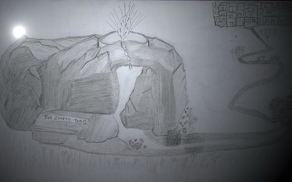Courage Mixed Media - The Empty Tomb by Lucy Mugambi