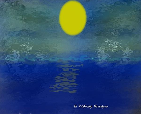Evening Digital Art - The Evening Sea by Dr Loifer Vladimir