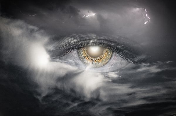 Eye Photograph - The Eye Of The Storm Sees All by My Minds  Photographer