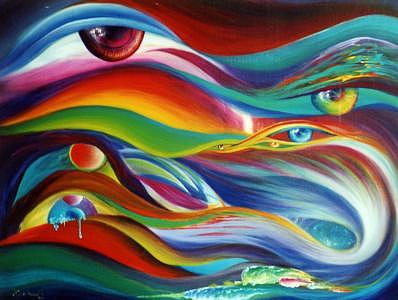 The Eyes Of Passion Painting by Pravit Rojawat