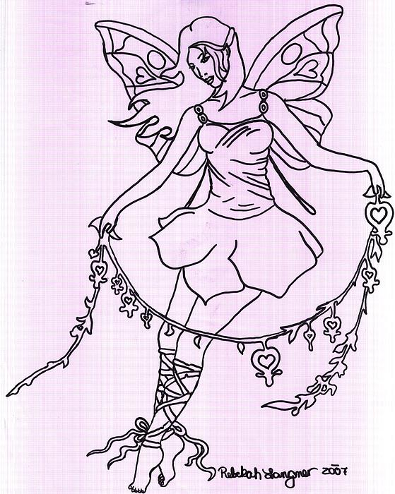Fairy Drawing - The Fairy  by Zecky Langner