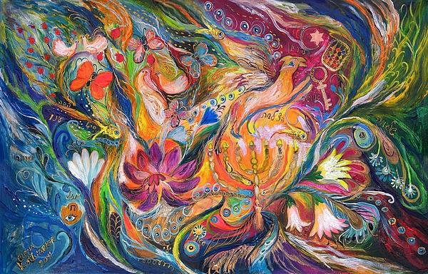 Original Painting - The Fairytale by Elena Kotliarker