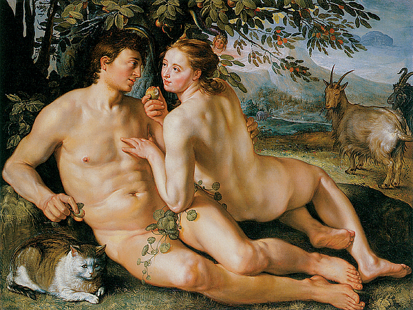The Fall Of Man Painting - The Fall Of Man by Hendrik Goldzius