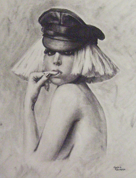 Lady Gaga Drawing - The Fame Monster by Cynthia Campbell